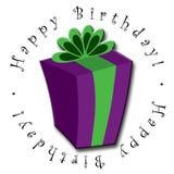 lycklig present för födelsedag Fotografering för Bildbyråer