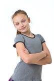 lycklig preteen för flicka Arkivbilder