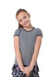 lycklig preteen för flicka Arkivfoton