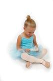 lycklig princess för ballerina Arkivfoton
