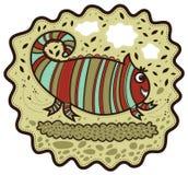 Lycklig randig kameleont Royaltyfria Bilder