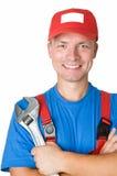 lycklig repairmanmilitärarbetare Royaltyfri Fotografi