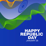 Lycklig republikdag Royaltyfria Bilder