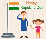 Lycklig republikdag av Indien Arkivfoto