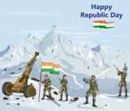 Lycklig republikdag av Indien royaltyfri illustrationer
