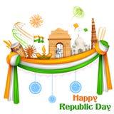 Lycklig republikdag av Indien bakgrund vektor illustrationer