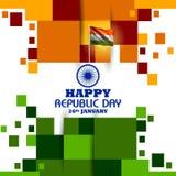 Lycklig republikdag av Indien tricolor bakgrund för 26 Januari royaltyfri illustrationer