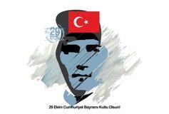 Lycklig republikdag 29th Oktober stock illustrationer