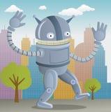 Lycklig robot Royaltyfria Foton
