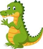 Lycklig rolig krokodiltecknad film Arkivfoton