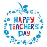 lycklig s lärare för dag stock illustrationer