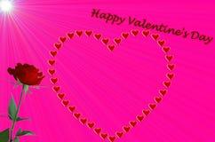lycklig s valentin för dag Arkivfoto