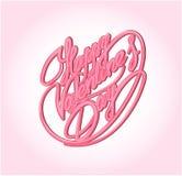 lycklig s valentin för dag Calligraphic beståndsdel Royaltyfria Foton