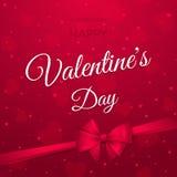 lycklig s valentin för dag Stilfullt feriebaner med text, hjärtor, pilbågen och bandet Arkivfoto