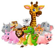 Lycklig safaridjurtecknad film Royaltyfri Fotografi