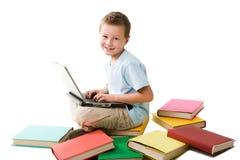 lycklig schoolboy Arkivbild