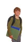 lycklig schoolboy Fotografering för Bildbyråer