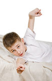 lycklig schoolboy Royaltyfri Bild