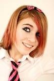 lycklig schoolgirl fotografering för bildbyråer