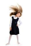 lycklig schoolgirl Arkivbilder