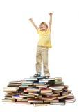 lycklig schoolkid Arkivfoton