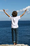 lycklig semester för barn Fotografering för Bildbyråer