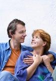 lycklig serie för par fotografering för bildbyråer
