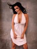 lycklig sexig kvinna royaltyfri fotografi