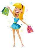 lycklig shoppare Royaltyfria Foton
