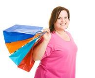lycklig shoppare Royaltyfria Bilder