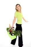 lycklig shoppare för eco Arkivbild