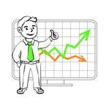 Lycklig SIM-affärsman stock illustrationer