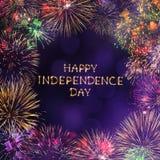 lycklig självständighet för dag Arkivfoto