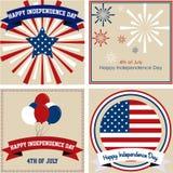 lycklig självständighet för dag Arkivbild