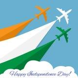 lycklig självständighet för dag india Arkivbilder