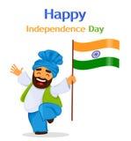 Lycklig självständighetsdagen Indien Hälsningkort, reklamblad eller affisch vektor illustrationer