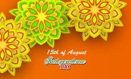 Lycklig självständighetsdagen Indien, vektorillustration Arkivfoto