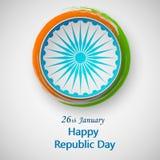 Lycklig självständighetsdagen Indien, vektorillustration, reklambladdesign för 26 Januari royaltyfri illustrationer
