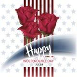 Lycklig självständighetsdagen 4th av den Juli vektorillustrationen stock illustrationer