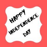 Lycklig självständighetsdagen USA 2019 vektor illustrationer
