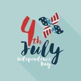 Lycklig självständighetsdagen USA, 4th av Juli Arkivfoto