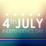 Lycklig självständighetsdagenAmerikas förenta stater, 4th av Juli stock illustrationer
