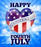 Lycklig självständighetsdagenfjärdedel av Juli royaltyfri illustrationer