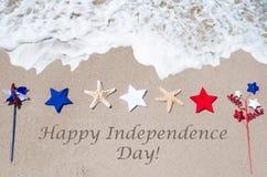 Lycklig självständighetsdagenUSA bakgrund Arkivfoto
