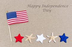Lycklig självständighetsdagenUSA bakgrund Arkivfoton
