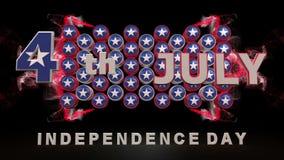 Lycklig självständighetsdagenvideo arkivfilmer