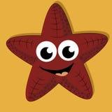 Lycklig sjöstjärna Fotografering för Bildbyråer