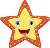 Lycklig sjöstjärna för tecknad film royaltyfri illustrationer