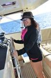 Lycklig sjöman Captain Arkivfoto
