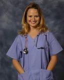 lycklig sjuksköterska royaltyfri foto